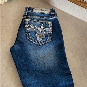 Rock revival Capri jeans